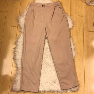 💥Good Luck Gem💥 hi rise Beige Polyester pants